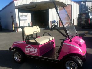 PInkfit-golf-cart